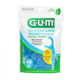G.U.M Advanced Care Flossers with Vitamin E and Fluoride -  Fresh Mint - 90's
