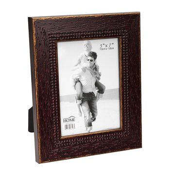 London Home Picture Frame - Weathered Wood - 5x7in