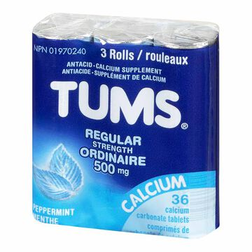 Tums Antacid Peppermint - 3 Pack