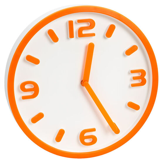 London Drugs Eriksen Clock - Orange - 30cm