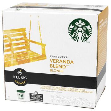 K-Cup Starbucks Coffee Pods - Veranda Blend - 16's