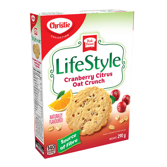 Peek Freans Lifestyle Selection Cookies - Cranberry Citrus Oat Crunch - 290g