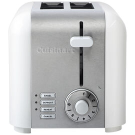 Cuisinart 2 Slice Compact Stainless Toaster - Stainless Steel / White - CPT-320WC