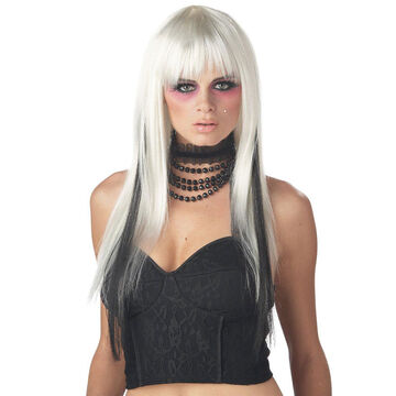 Halloween Chopsticks Wig - Platinum/Black