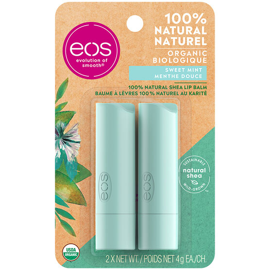 eos Lip Balm - Sweet Mint - 2 x 4g
