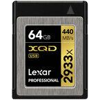 Lexar Professional 2933x XQD 2.0 Card - 64GB - LXQD64GCRBNA2933