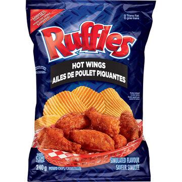 Ruffles Potato Chips - Hot Wings - 245g