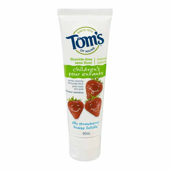 Tom's of Maine Natural Toothpaste - Fluoride Free - Strawberry - 90ml