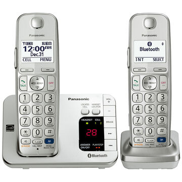 Panasonic Link2Cell Bluetooth Cellular Convergence Solution with 2 Handsets - KX-TGE262S
