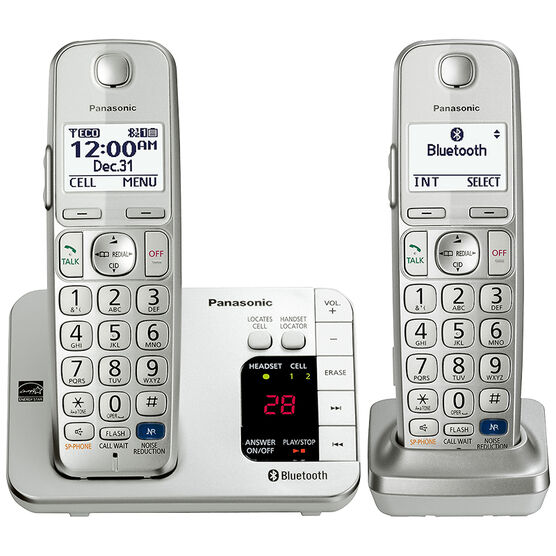 Panasonic Link2Cell Bluetooth Cordless Phone - 2 Handsets - KX-TGE262S