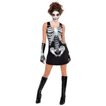 Halloween Black Bone Tank Dress