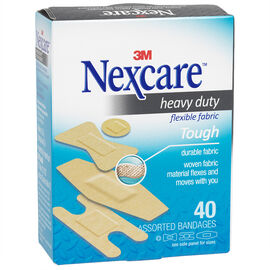 3M Nexcare Heavy Duty Fabric Bandages - 40's