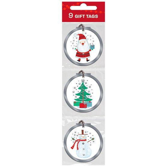 Christmas Hand-Drawn Icons Gift Tags - 9s