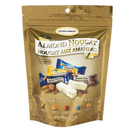 Golden Bonbon Almond Nougat - Assorted - 70g