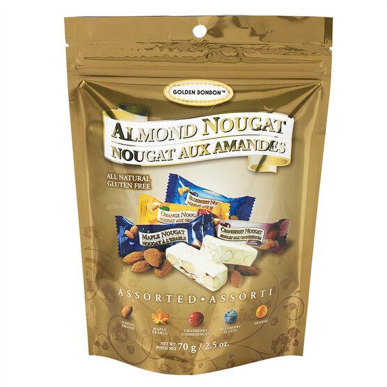 Golden Bonbon Almond Nougat - Assorted - 70g