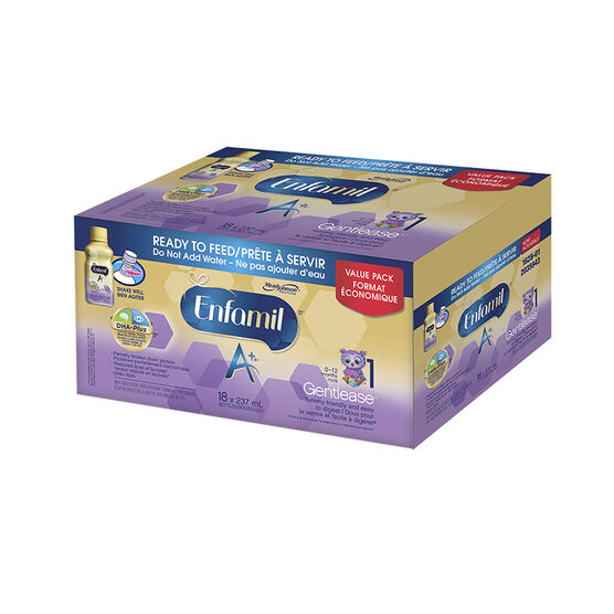 Enfamil A+ Gentlease Ready-To-Feed - 18 x 237ml