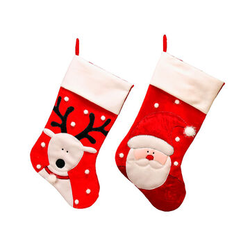 Christmas Santa or Snowman Stocking - Assorted - 24-inches