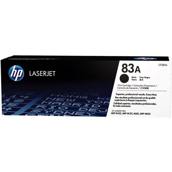 HP 83A Toner Cartridge - Black - CF283A