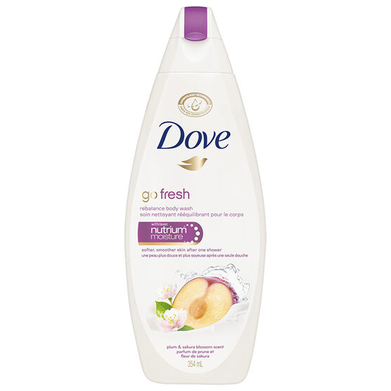 Dove Go Fresh Rebalance Body Wash - Plum & Sakura Blossom - 354ml