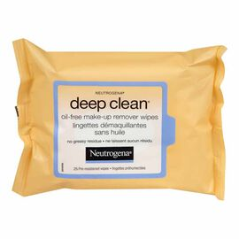 Neutrogena Deep Clean Oil-Free Make-Up Remover Wipes - 25's