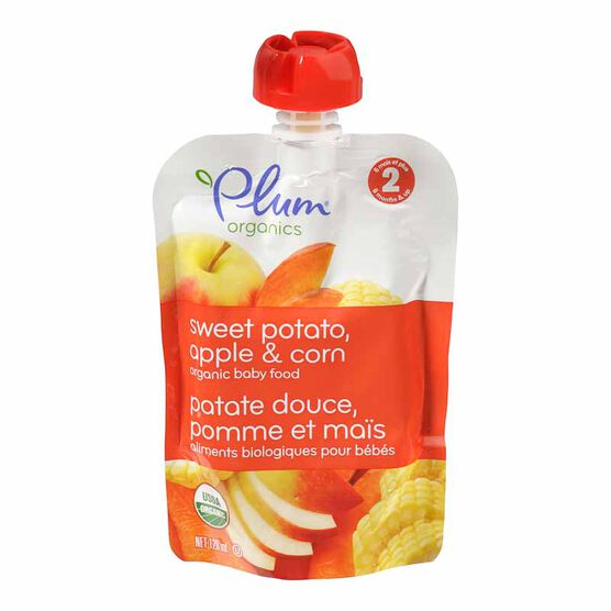Plum Organics - Sweet Potato, Apple and Corn - 128ml