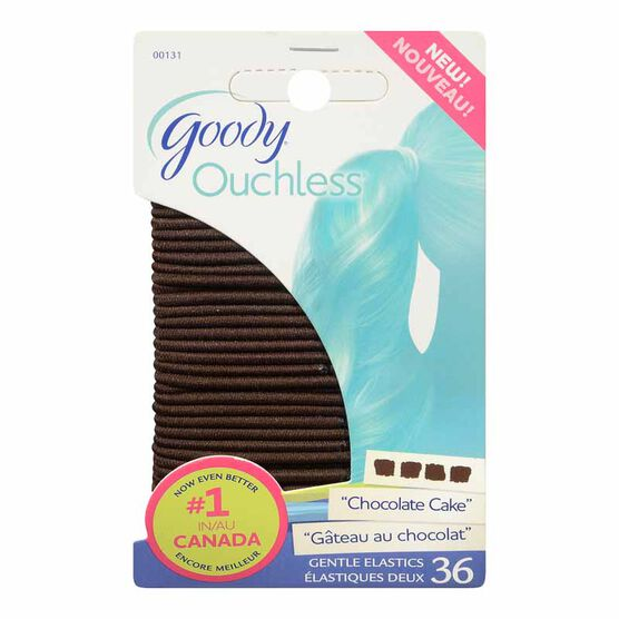 Goody Ouchless Elastics - Brown - Small - 36's