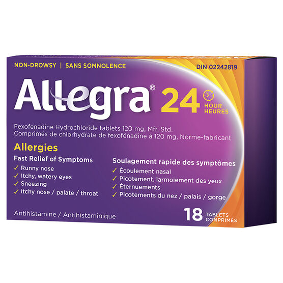 Allegra Allergies - 24 hour  - 120mg/18's