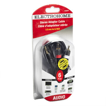 Electrohome Mini to 2 RCA cables - ELS571