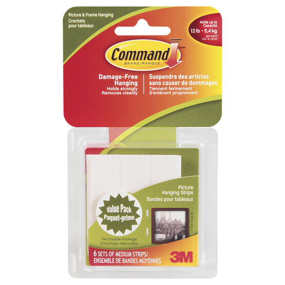 3M Command Medium Hanging Strips - 17204C