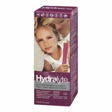 Hydralyte Electrolyte Freezer Pops - Apple Blackcurrant - 16 x 62ml
