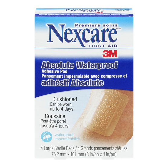 3M Nexcare Absolute Waterproof Adhesive Pad - 4's