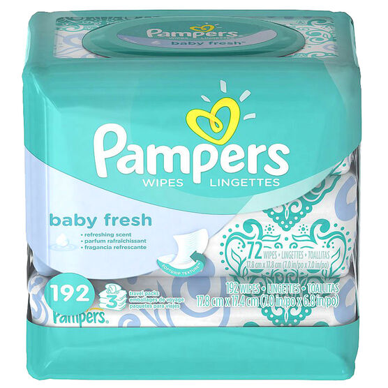 Pampers Wipes Fresh - 192's