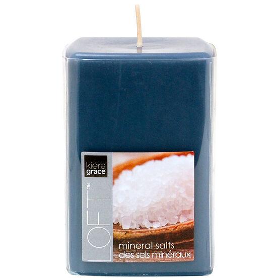 Kiera Grace Loft Pillar Candle - Mineral - 4inch
