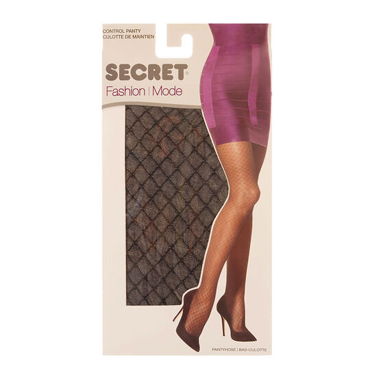 Secret Control Top Pantyhose - Black Diamond - A/B