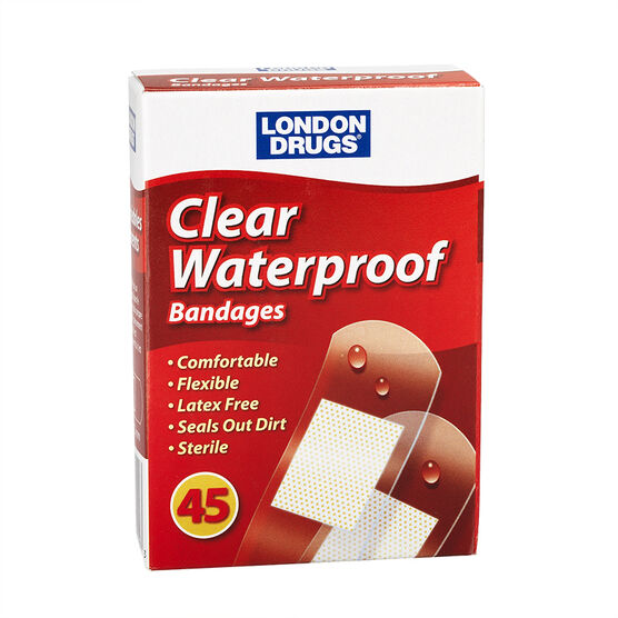 London Drugs Clear Waterproof Bandages - 45's