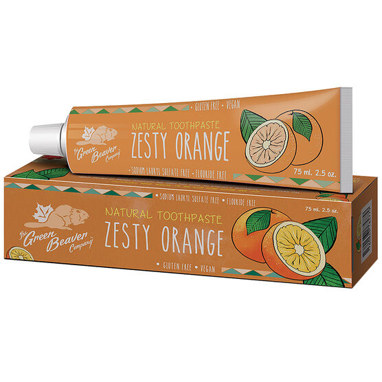 Green Beaver Natural Toothpaste - Zesty Orange - 75ml