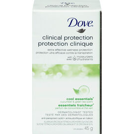 Dove Clinical Protection Cool Essentials Cucumber & Green Tea Scent Anti-Perspirant Solid - 45g