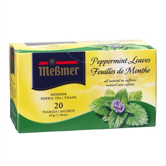 Messmer Tea - Peppermint Leaves - 20's