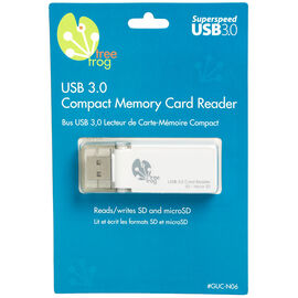 Tree Frog USB 3.0 SD/Micro SD Card Reader - GUC-N06