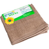 Green Works Dish Cloth - Solid Tan- 2 pack