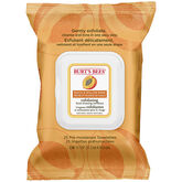 Burt's Bees Exfoliating Facial Cleansing Towelettes - Peach and Willowbark - 25's