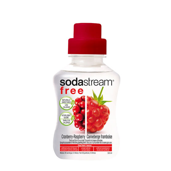 SodaStream Free Syrup - Cranberry/Raspberry - 500ml