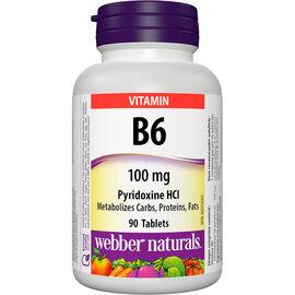 Webber Naturals B6 100mg - 90's