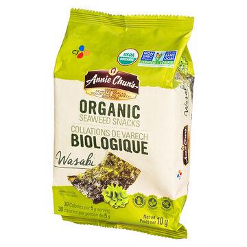 Annie Chun's Organic Seaweed Snacks - Wasabi - 10g