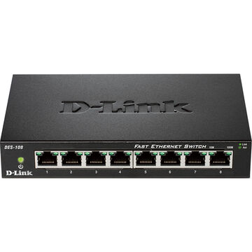D-Link 8-Port Unmanaged Gigabit Switch - DGS-108