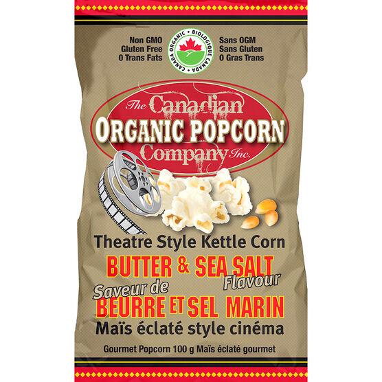 Canadian Organic Popcorn - Butter & Sea Salt - 100g