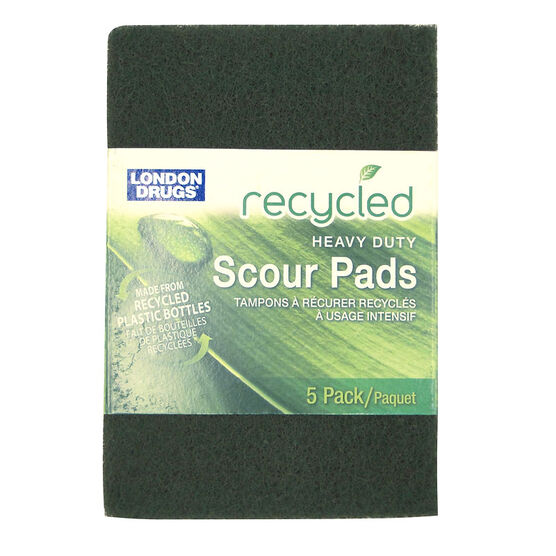 London Drugs Heavy Duty Scour Pads - 6 x 4inch - 5's