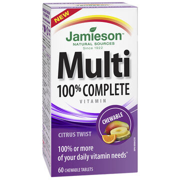 Jamieson Multi 100% Complete Chewable Vitamin - Citrus Twist - 60's