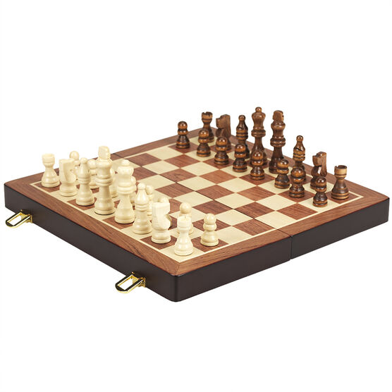 Chess Game in a Wood Box