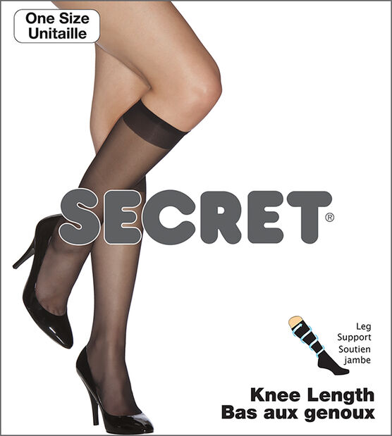 Secret Knee Length Support Sock - Nude